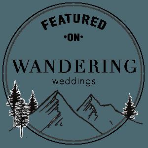WANDERING WEDDINGS BADGE FEATURED BY